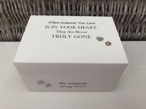 Personalised In Memory Of Box Loved One ~ DAD ~ FATHER any Name Bereavement Loss - 332626216679